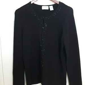 Jaclyn Smith Black Embelished Sweater